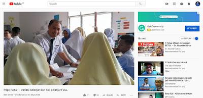 Contoh video penuh Pdpc STEM oleh Cikgu Hailmi dirakam dan diupload Youtube