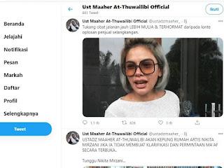 Buntut Penghinaan Terhadap HRS, Rumah Nikita Mirzani Bakal Dikepung 800 Laskar Pembela Ulama