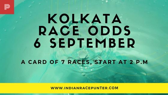 Kolkata Race Odds 6 September