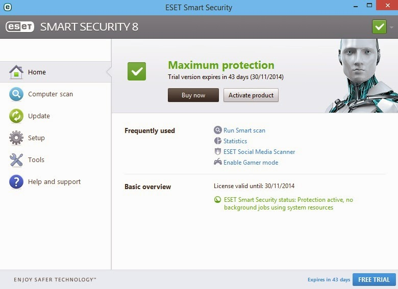 Cara Crack ESET Smart Security 8 dan ESET NOD32 Antivirus 8