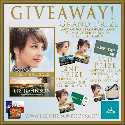 A Glitter of Gold tour giveaway graphic