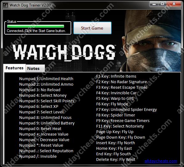 Games <b>Cheat Code</b> &amp; Trainer: <b>WATCH DOG</b> TRAINER LATEST (2014)