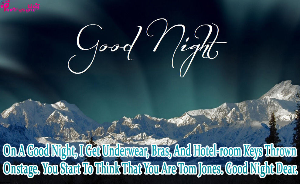 Good Night Quotes With Night Images For Facebook Best Romantic