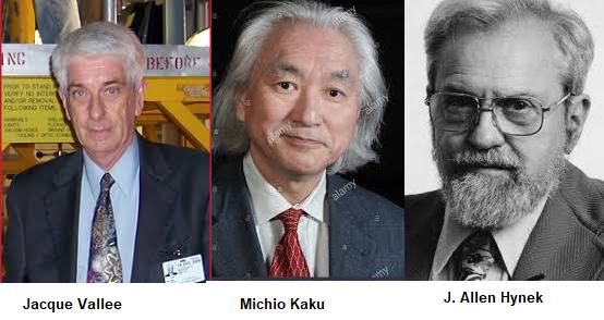 Metodo cientifico para estudiar los ovnis: Jacque Valle, Allen Hynek, Michio Kaku