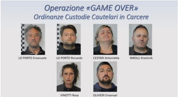 6 members of a criminal family arrested in Italy, an Albanian among them