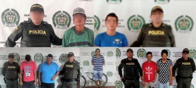 Durante el fin de semana en Girardot, 7 capturados y 1 aprehendido por hurto y porte ilegal de armas