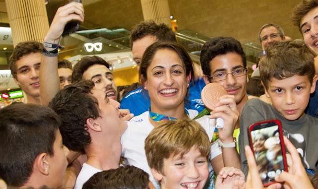 Medallistas israelíes retornan a su patria
