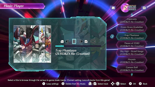 Mega Man Zero ZX Collection Music Player Reploid Remixes