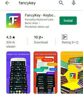 Cara Membuat Nama Keren Mobile Legend Menggunakan Aplikasi FancyKey Keyboard Indonesia