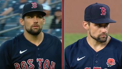 Nathan Eovaldi changes jerseys Red Sox vs Yankees 6/4/2021