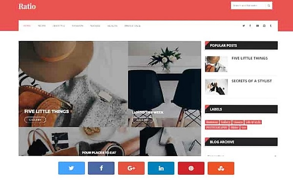 magazine style free blogger templates