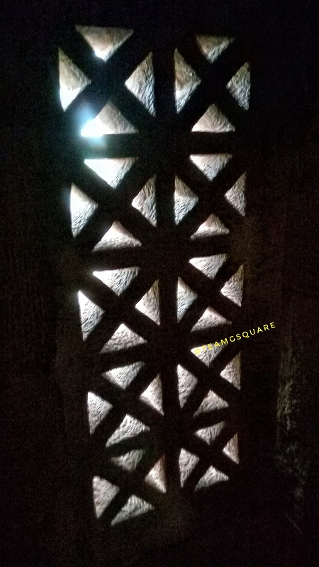 A Jali Window/ Perforated Stone window of Rashtrakuta period