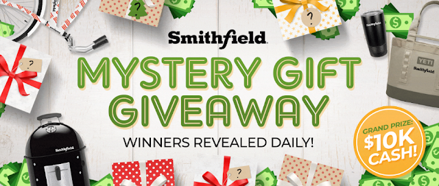 Smithfield is celebrating the Holiday Season by giving you a chance to enter every day to win a $50 Gift Card, the grand prize of $10,000 cash and more!