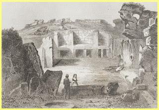 Retrato decimonónico del Templo de Ġgantija