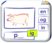 http://www.kizphonics.com/phonics/word-families-in-and-ig-phonics-activity/