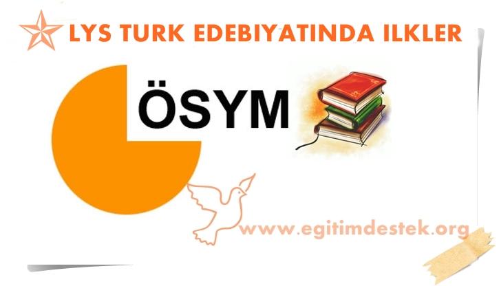 Lys Edebiyat Sınavda Çıkabilecek Önemli Bilgiler
