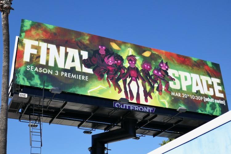 Final Space season 3 billboard