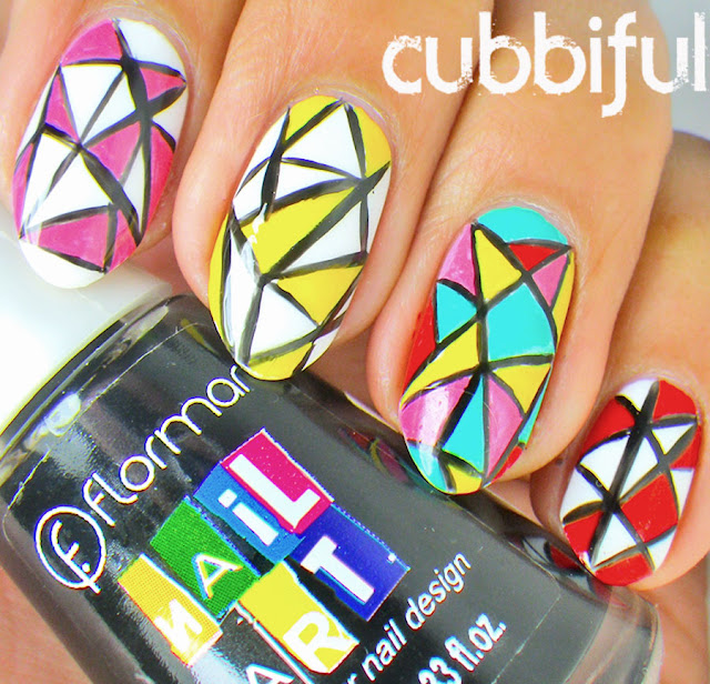 Colourful Mosaic Nail Art