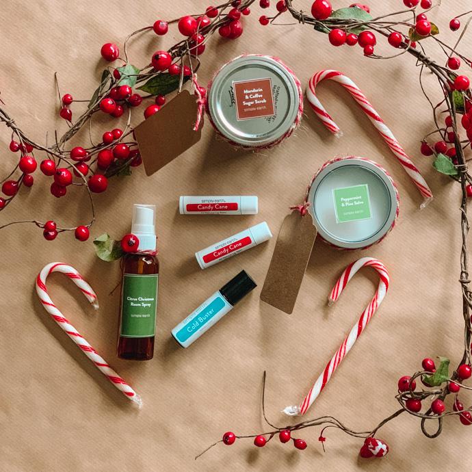 Simply Earth Essential Oils Recipe Box December 2019