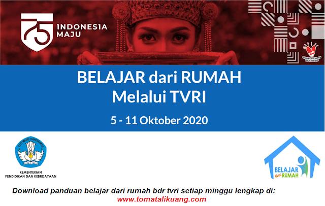 panduan belajar dari rumah bdr tvri 5 6 7 8 9 10 11 oktober 2020 pdf tomatalikuang.com