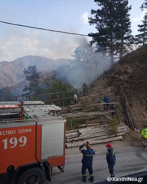 Ξάνθη: Πυρκαγιά σε δασική έκταση στη Γλαύκη - ΦΩΤΟ