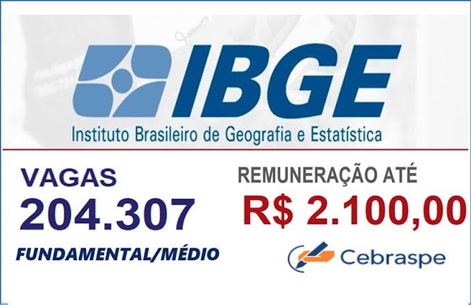 Concurso IBGE: Saiu EDITAL com 204 mil vagas para o Censo 2021. Veja os detalhes