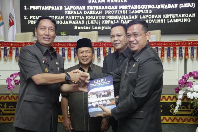 DPRD Provinsi Lampung Menggelar Rapat Paripurna Penyampaian LKPJ.