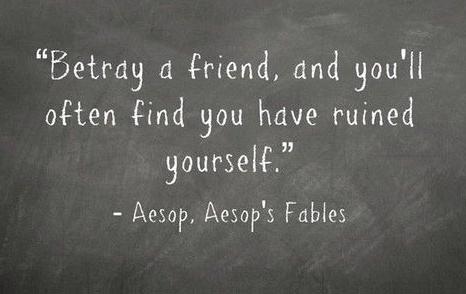 betray friend trust
