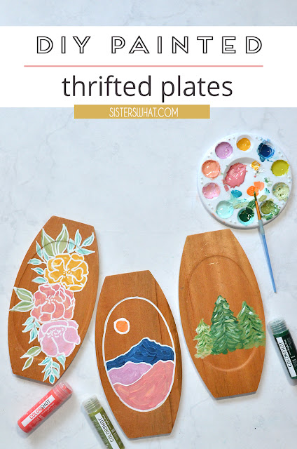 diy painted thrifted plates