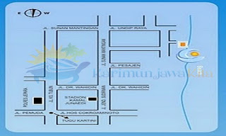 map of ocean view jepara