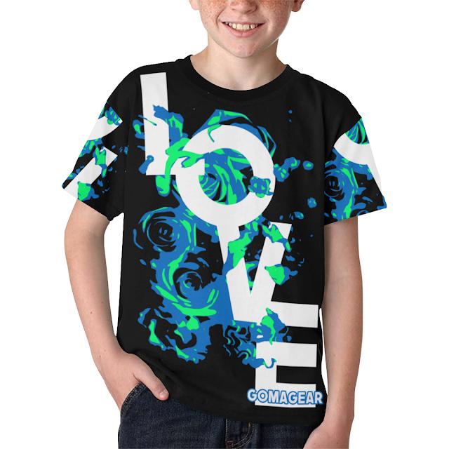 GOMAGEAR® Love Roses Unisex Children T-shirt