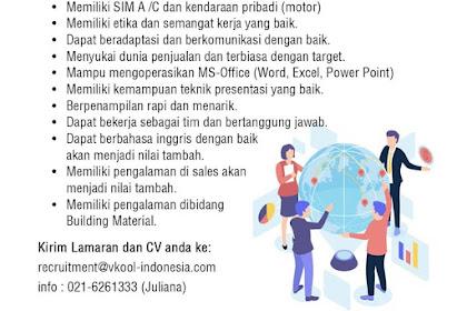 Info Lowongan Kerja Sales V-Kool Indonesia