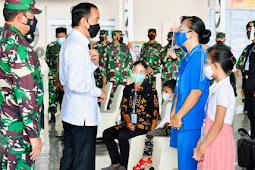 Jokowi Silaturahmi dengan Keluarga Patriot KRI Nanggala 402 di Lanudal Juanda