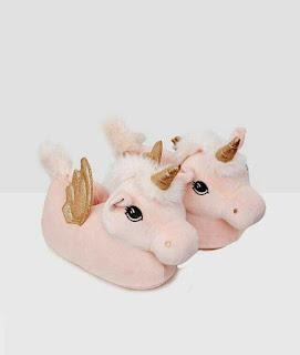 unicorn peluş terlik