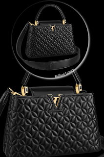 ♦Exclusive Louis Vuitton Capucines PM Bags-Louis Vuitton Capucines PM bag in black Monogram flower design #brilliantluxury