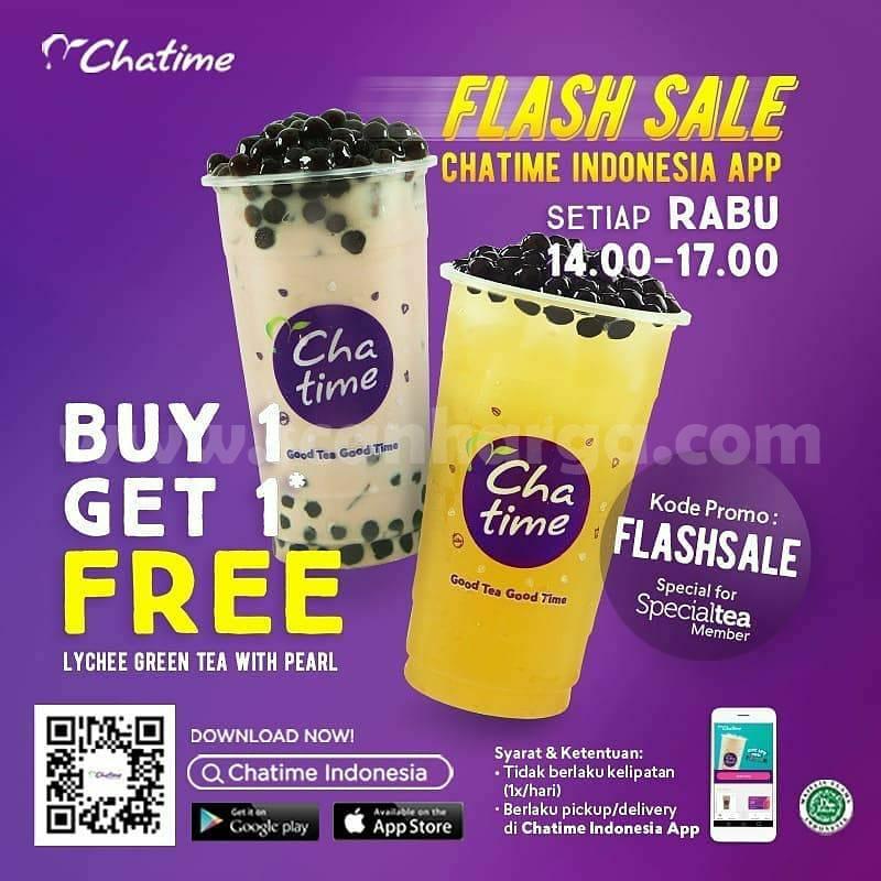 CHATIME Promo Flash Sale Spesial RABU! Beli 1 Gratis 1