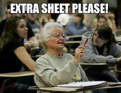 Extra Sheets Wale Students