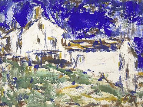 Christian Rohlfs, Blaues Haus, um 1919