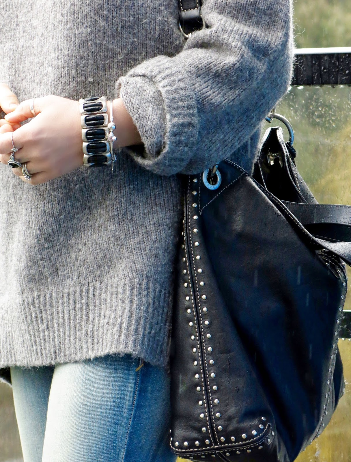 oversized woolly sweater, Michael Kors bag
