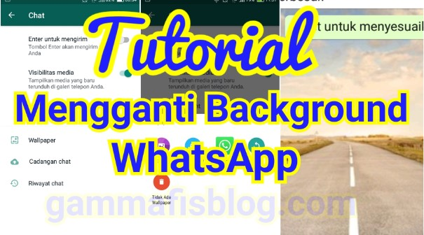 Cara Mengganti Background WhatsApp Dengan Foto Buatan Sendiri
