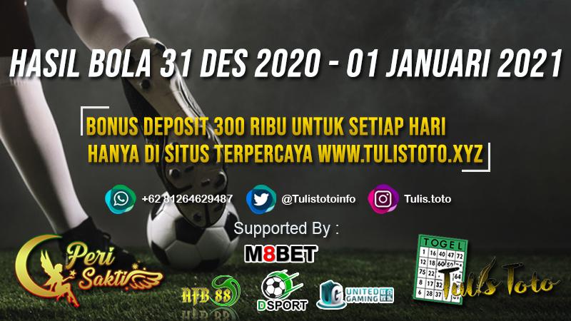 HASIL BOLA TANGGAL 31 DES 2020 – 01 JANUARI 2021
