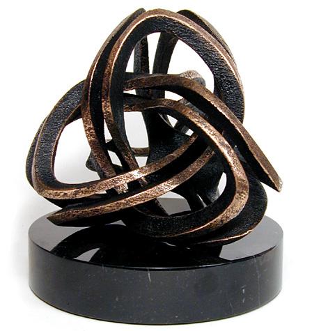 Matemática e esculturas em bronze