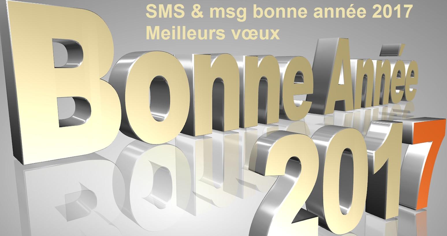 SMS & msg bonne année 2017 Meilleurs vœux