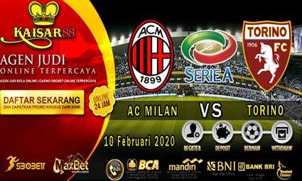 PREDIKSI BOLA TERPERCAYA AC MILAN VS TORINO 18 FEBRUARI 2020