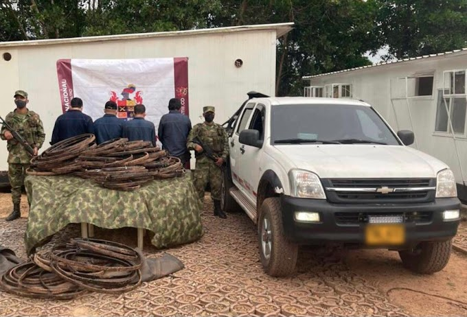 Sujetos intentaron sobornar a soldados en Puerto Gaitán para evitar ser capturados por hurto de cobre