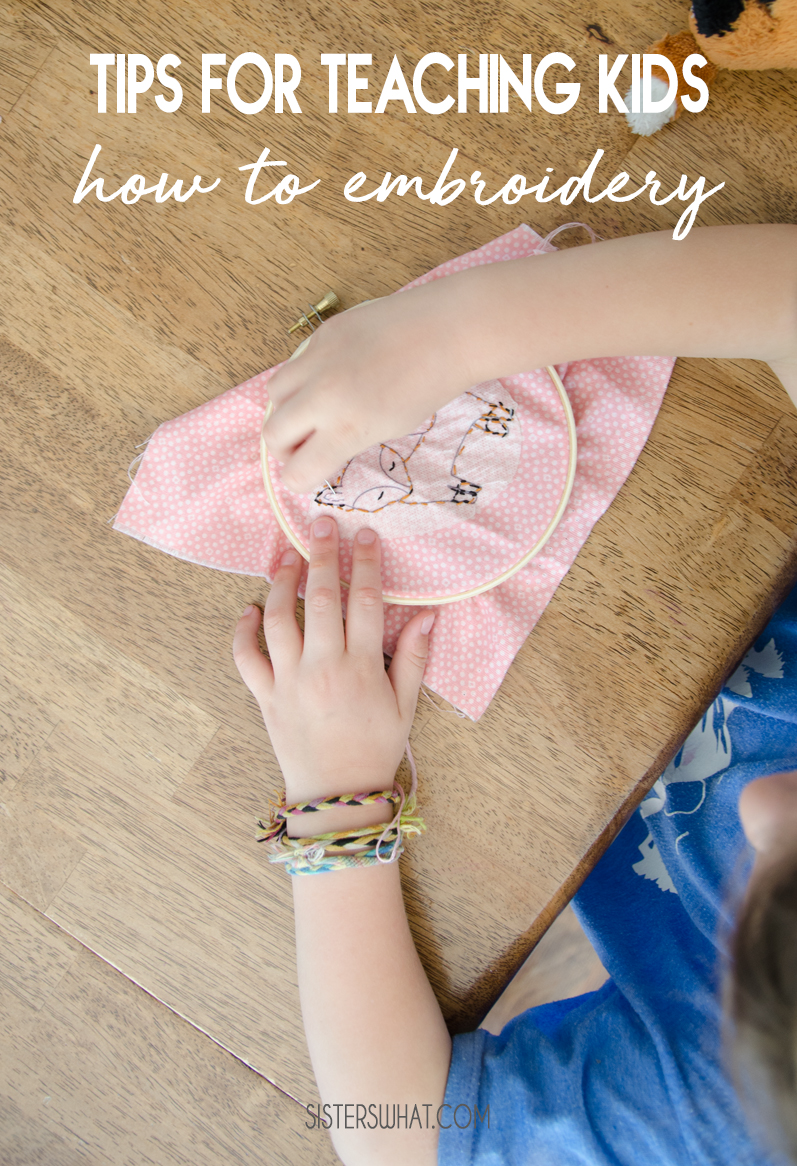 tips for teaching embroidery kids