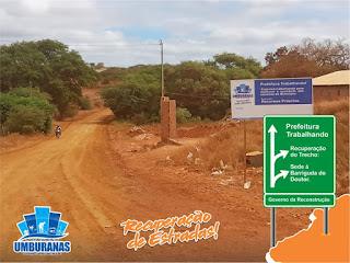 64479246 426137797940111 880475287886757888 n - Prefeitura de Umburanas recupera trecho que liga Sede do Município a Barriguda do Doutor.