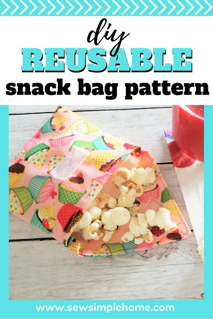 Save money this school year with this simple diy reusable snack bag pattern and photo tutorial.