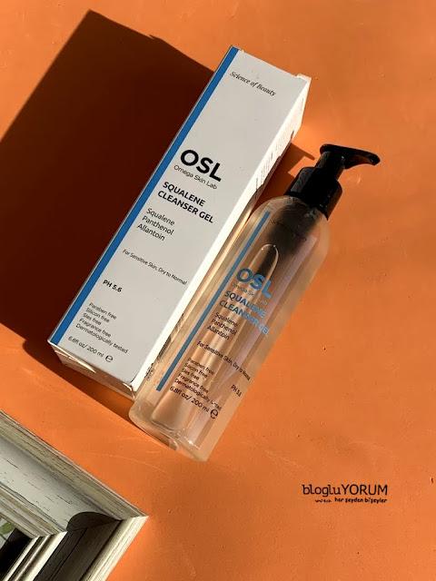 osl omega skin lab squalene cleanser gel temizleme jeli incelemesi