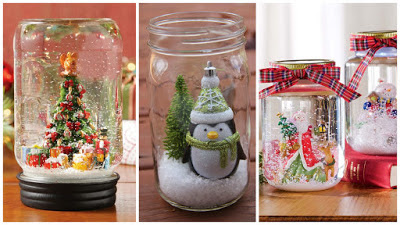 adornos-navideños-frascos-reciclados